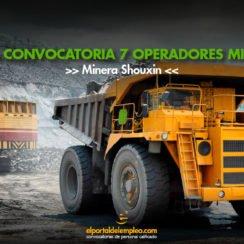 operadores mineros