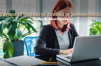 Trabajo de Auxiliar de Administración