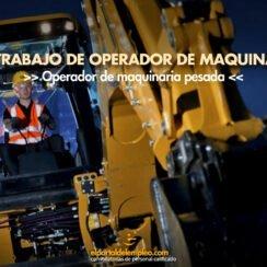 operador de maquinaria pesada trabajo