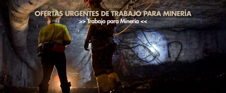 trabajo para minería